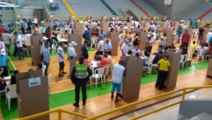 Participación electoral en Cartagena aumentó un 11% en comparación con segunda vuelta de 2014