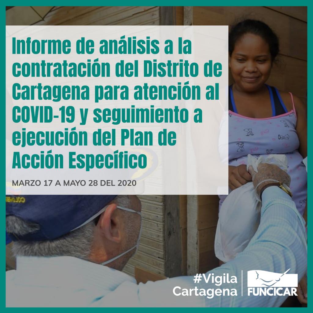 Conoce qué ha contratado la Alcaldía de Cartagena para  atención a la emergencia sanitaria porCOVID-19 y cómo ha ejecutado el Plan de acción específico